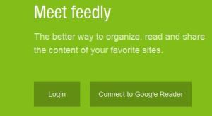 login feedly